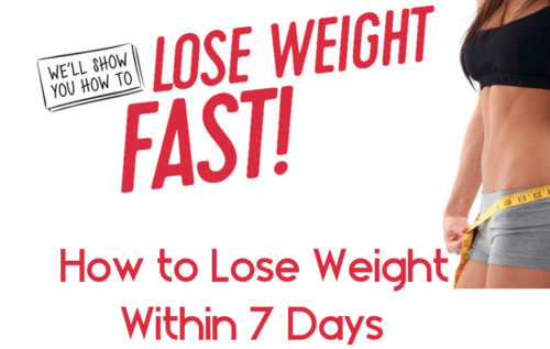 Lose Weight - 7 Best Way to Lose Weight Within 7 Days