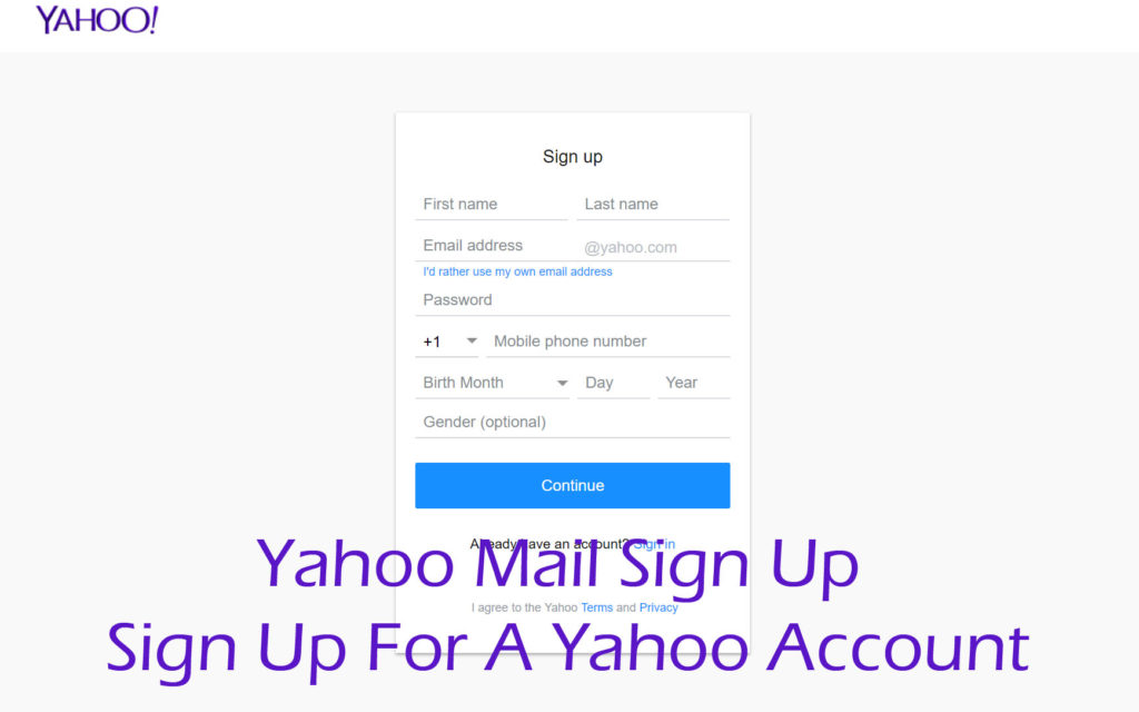 Yahoo Mail Sign Up - Yahoo Mail Login