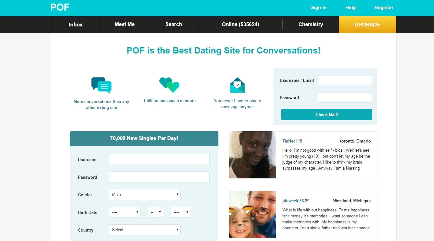 Dating site called pof