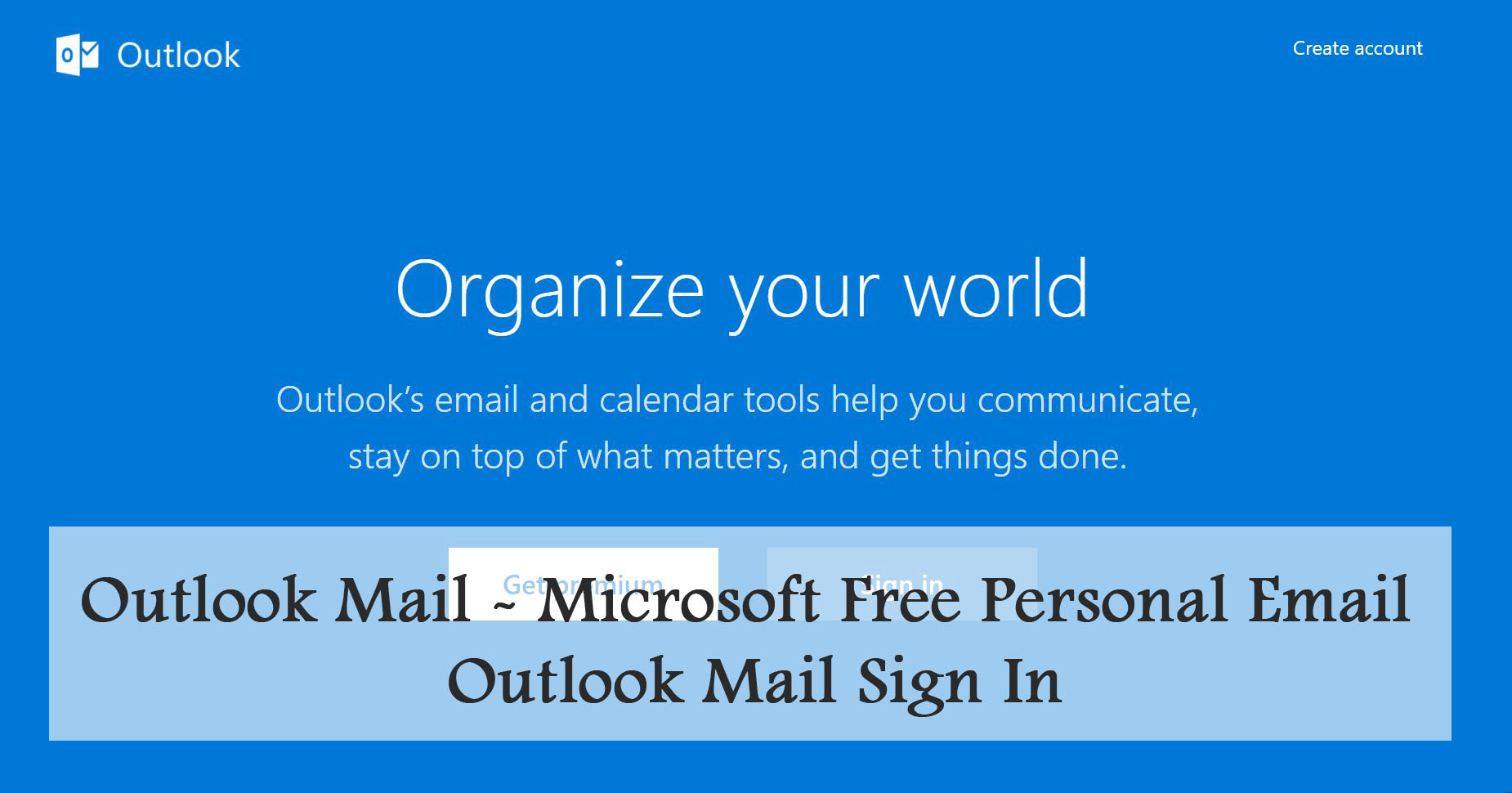 Microsoft Email – Microsoft Free Personal Email
