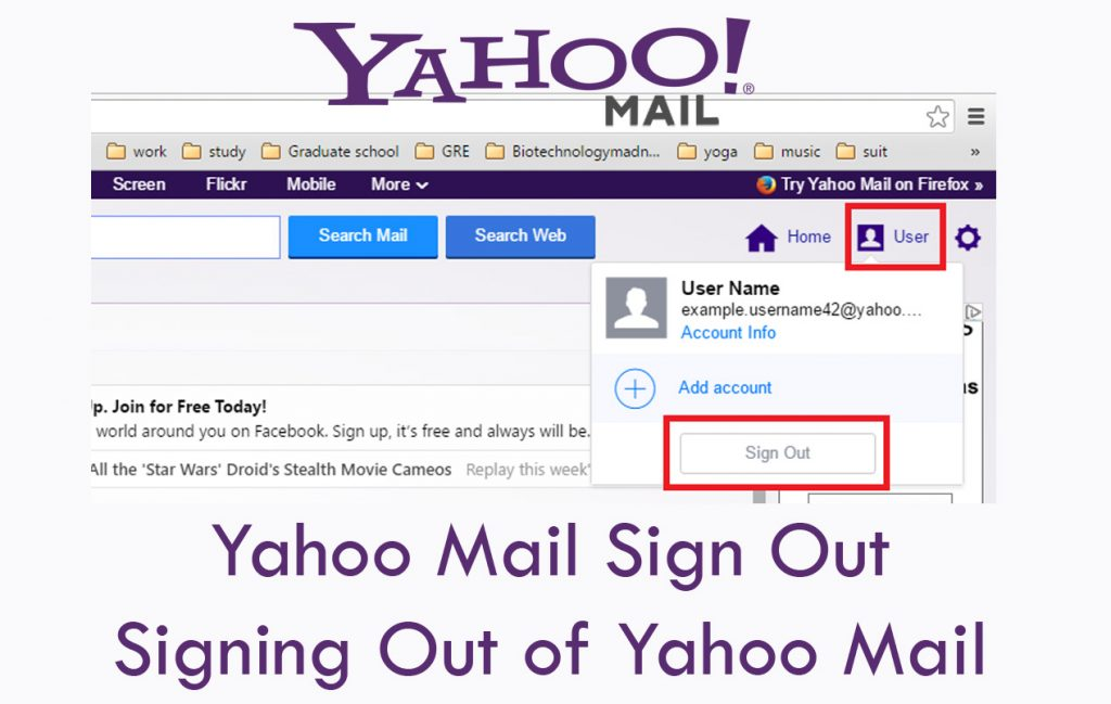 Yahoo Mail Sign Out - Signing Out of Yahoo Mail