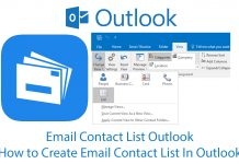 Email Contact List Outlook - How to Create Email Contact List In Outlook