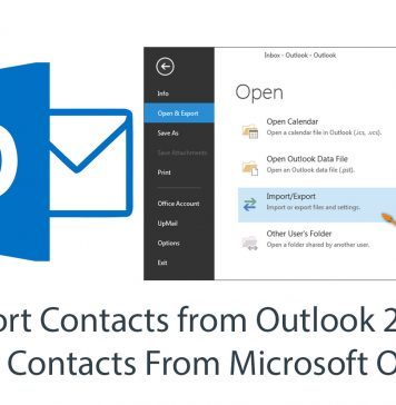 Export Contacts from Outlook 2013 - Manually Export Contacts From Microsoft Outlook