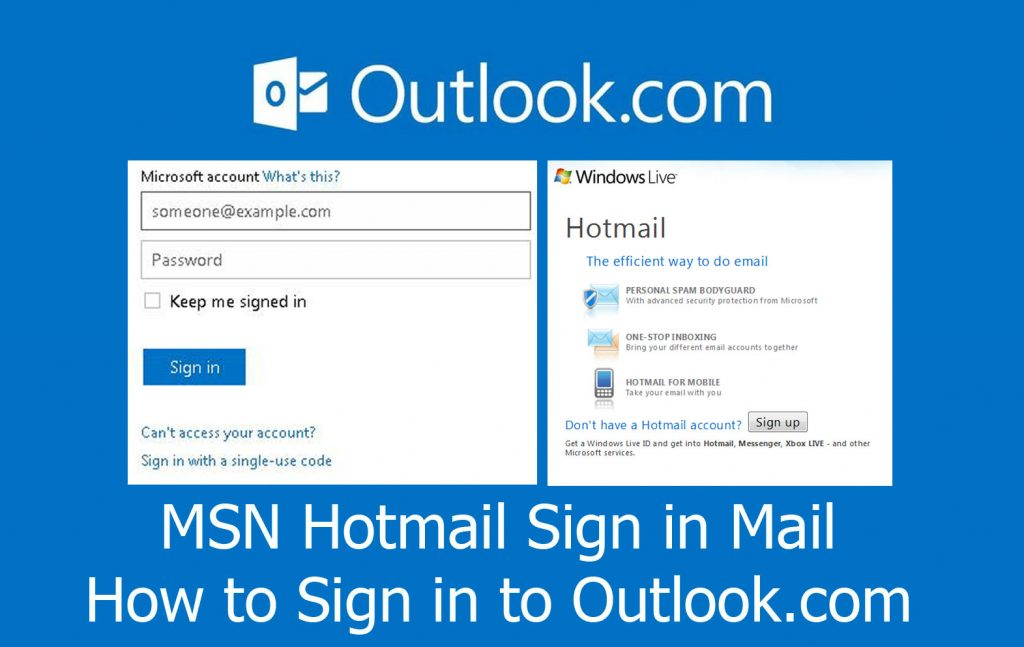 MSN Hotmail Sign in Mail - How to Sign in to Outlook.com
