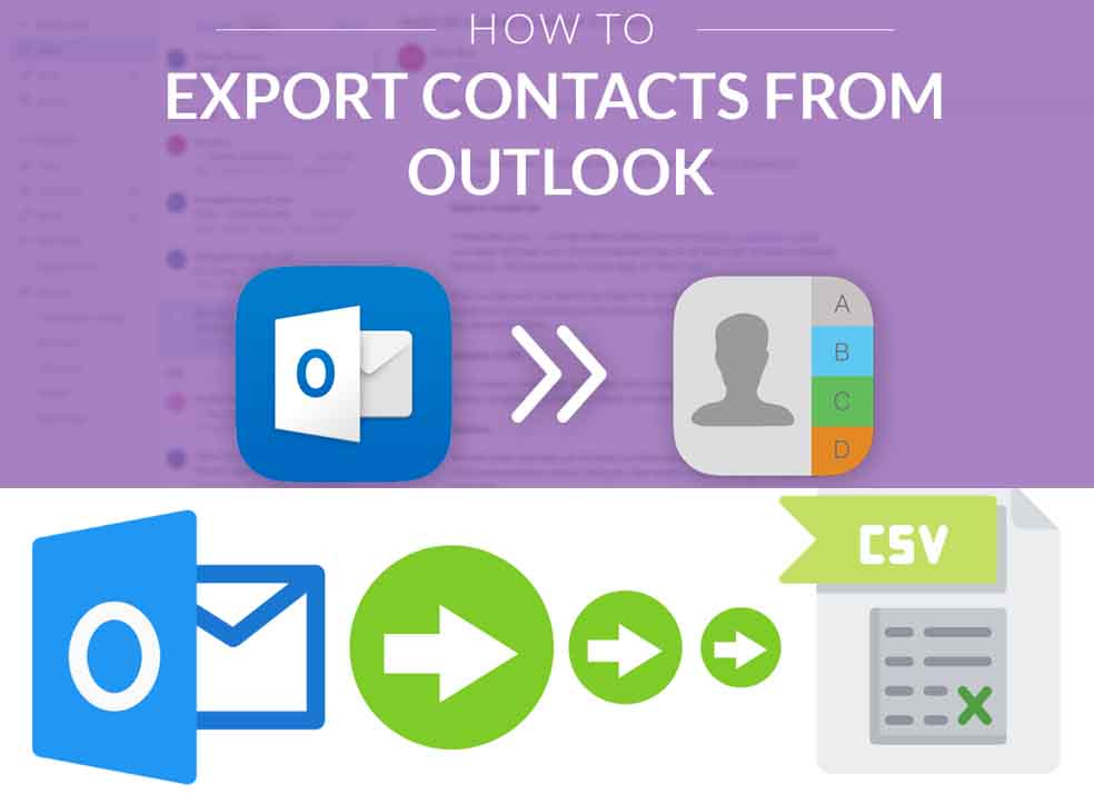 How Do I Export Contacts from Outlook 2019 - Outlook Contacts