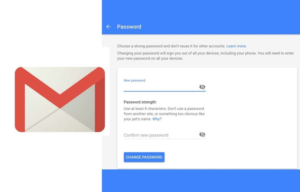 How to Change Gmail Password - Gmail Password