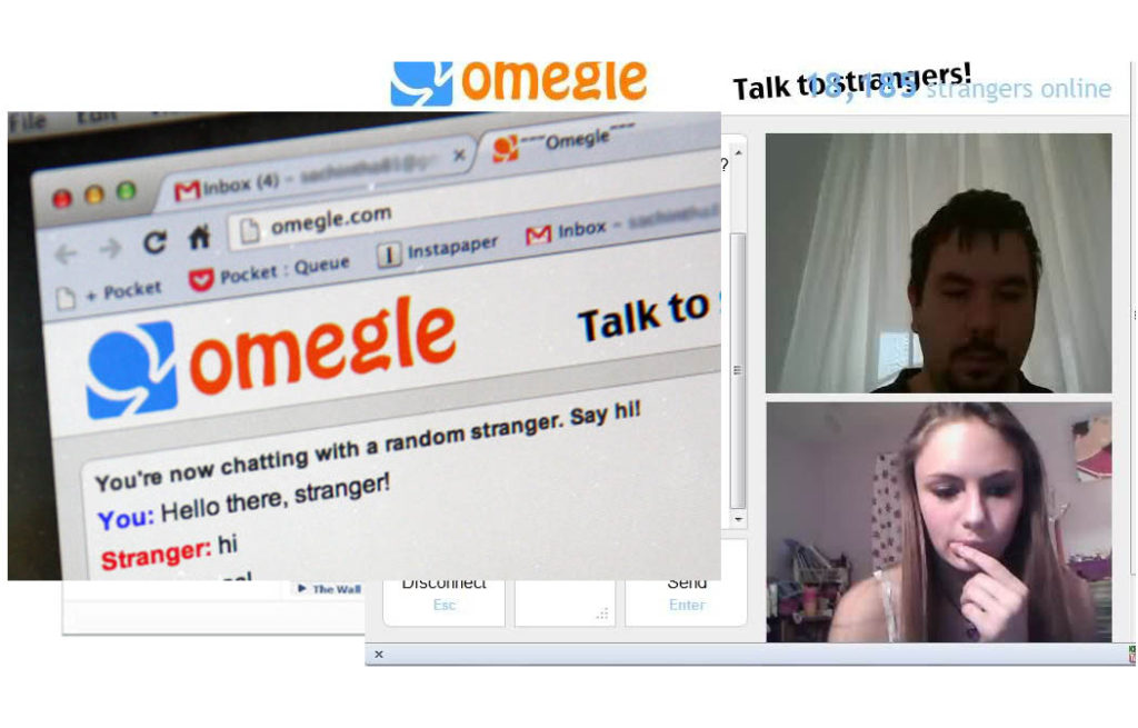 Chat sites like omegle text