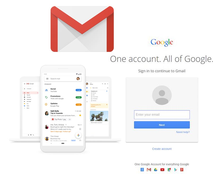 Gmail Email Login - Gmail Email Account | Gmail Login Mail
