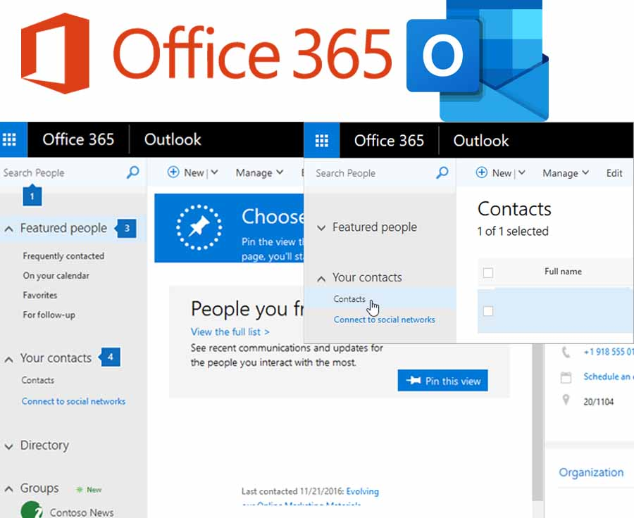 Office 365 Outlook Contacts - Export Outlook Contacts | Outlook Contacts