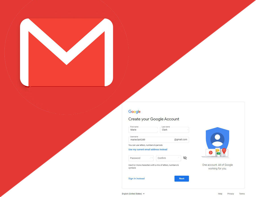 Gmail Email Sign Up -  Gmail Email Account | New Gmail Sign Up