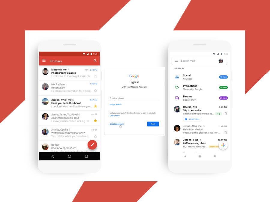 Gmail Mobile Sign Up - Create your Google Account | Google Login