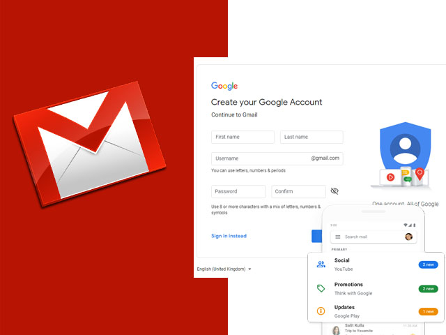Google Gmail Sign Up - Google Gmail Account | Gmail Sign Up