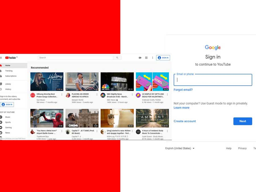 Sign In YouTube with Gmail Account - Watch YouTube Videos
