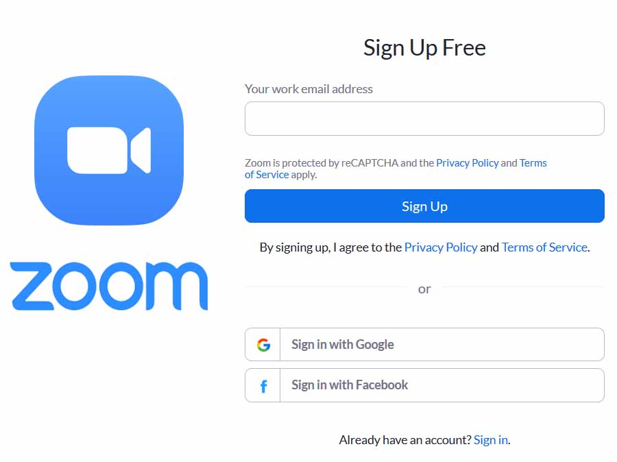 Zoom Sign up - How to Sign up for Zoom Account | Zoom Meeting Online