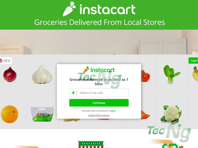 How to Order Your Grocery Delivered to you from Instacart