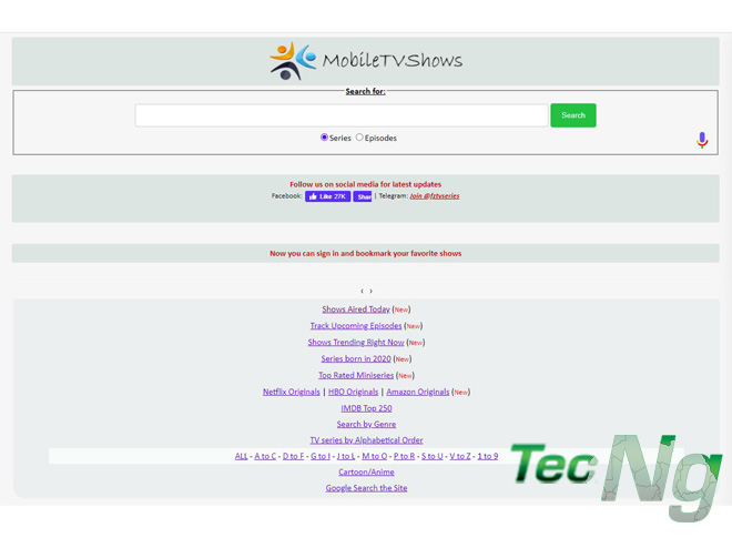 Download Free Tv Series and TV Shows on MobileTvshows.net