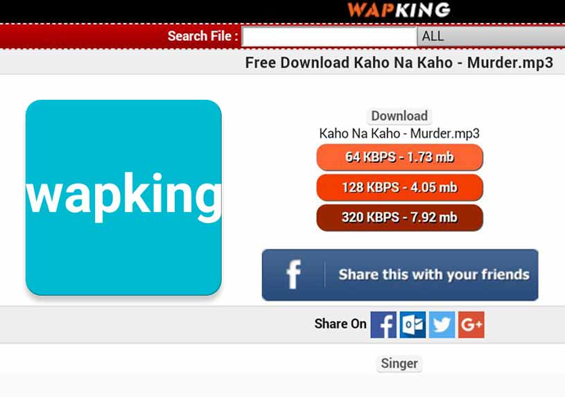 Wapking - Download Movies, MP3 Song & Videos   www.wapking.com