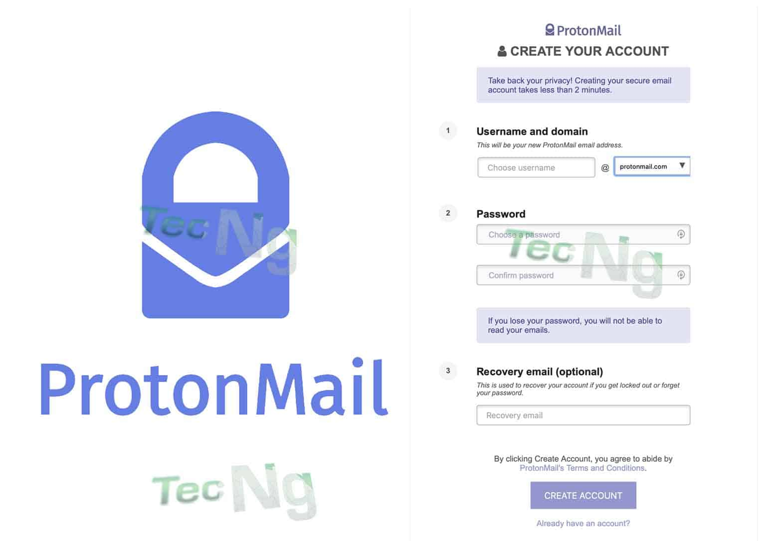 Proton Mail Sign Up - How do I get a proton Email Account | Protonmail.com