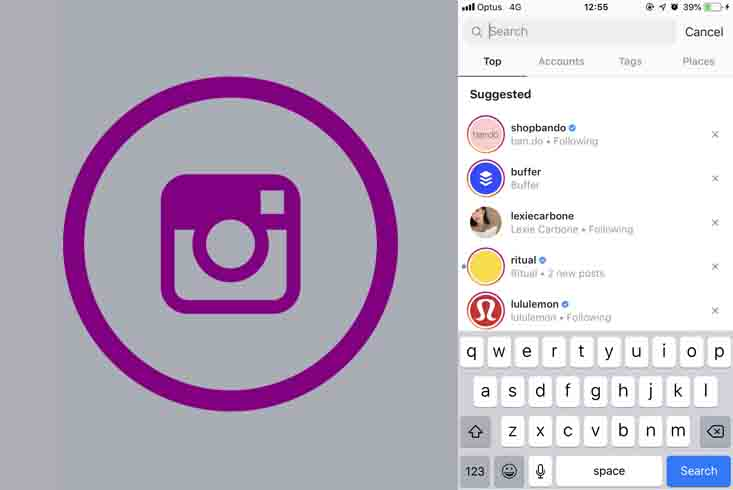 Instagram Search User - Search Instagram for Tags and Users